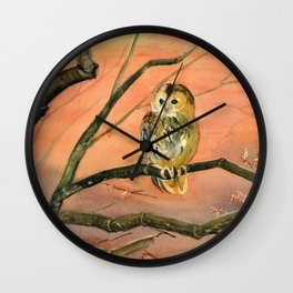 Colorful Owl Art Wall Clock