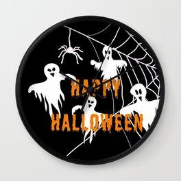 Monsters Happy Halloween Wall Clock