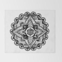 Mandala Circles Throw Blanket