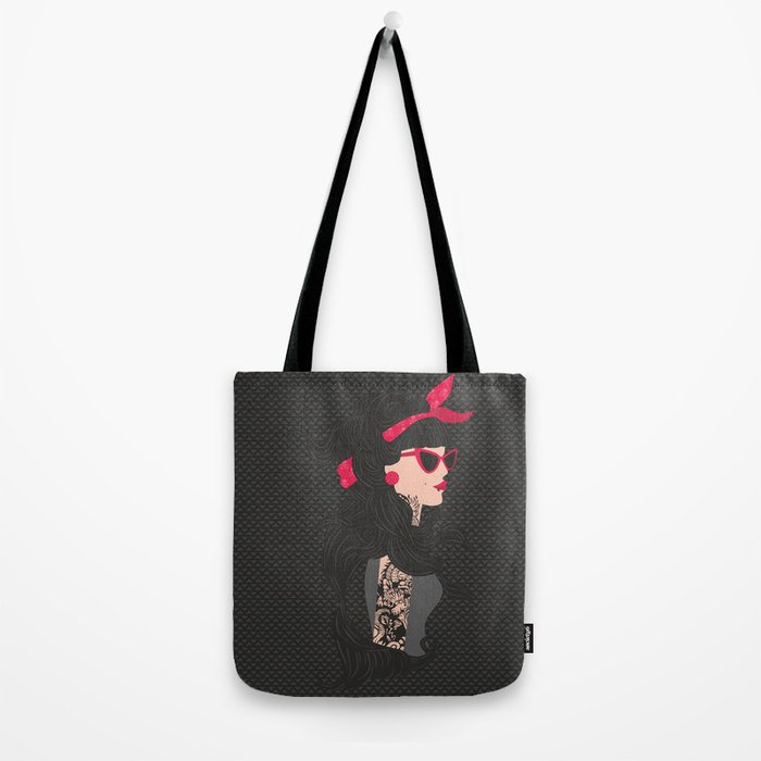 fashion girl with tattoo Tote Bag