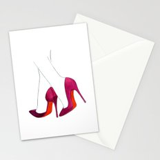 Purple Shoes Stationery Cards