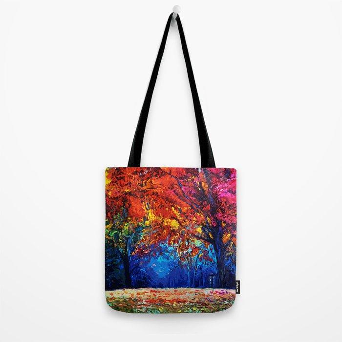 Tardis Tree Art Blossom Tote Bag