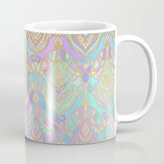 Jade & Blue Enamel Art Deco Pattern Mug