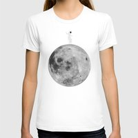 lunar T-shirts featuring Lunar balance by Tony Vazquez