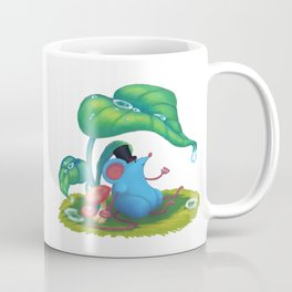 Mr. Bluemouse in the Rain Coffee Mug