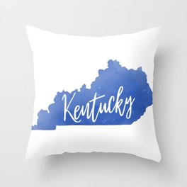 Kentucky Map State Watercolor Print Throw Pillow