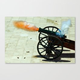 Cannon on fire Canvas Print