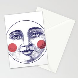 Moon Face Stationery Cards
