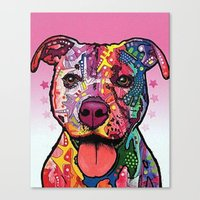 rottweiler Canvas Prints featuring Rottweiler Dog by trevacristina