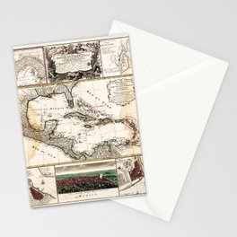 Map of the Caribbean (1781) Stationery Cards