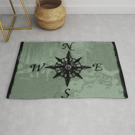 Historic Old Compass Rose Rug