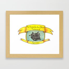 The Society for the Ethical Treatment of Typewriters Framed Art Print