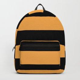 VA Bright Marigold - Spring Squash - Pure Joy - Just Ducky Hand Drawn Fat Horizontal Lines on Black Backpack