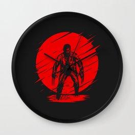 Red Logan Wall Clock