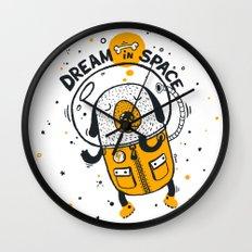 Dream in space Wall Clock