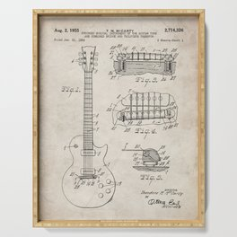 Gibson Guitar Patent - Les Paul Guitar Art - Antique Serving Tray