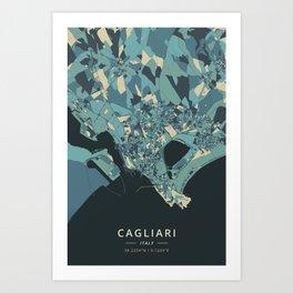 Cagliari, Italy - Cream Blue Art Print
