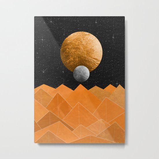 The Orange Planet Metal Print