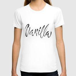 Vanilla Brush Lettering T-shirt