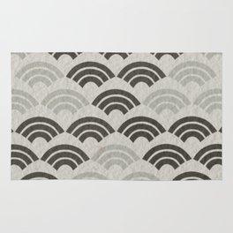 black and white japanese pattern Rug