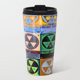 Fallout Shelter Mosaic Metal Travel Mug