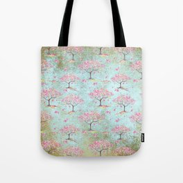 Spring Flowers - Cherry Blossom  Tree Pattern Tote Bag