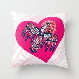 Heart - Raven Steals The Sun Throw Pillow