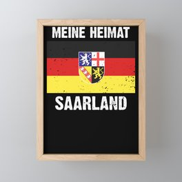 Saarland flag coat of arms flag logo gift Framed Mini Art Print