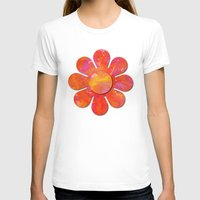 camo T-shirts featuring Camo flowers by Shelly Bremmer