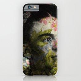 Flowered Frida Kahlo iPhone Case