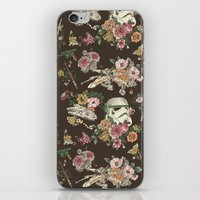 science iPhone & iPod Skins featuring Botanic Wars by Josh Ln