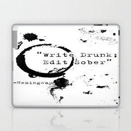 Hemingway Writing Quote Laptop & iPad Skin