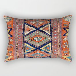 Southwestern Farmhouse II // 19th Century Colorful Red Yellow Blue Green Aztec Farm Stars Pattern Rectangular Pillow