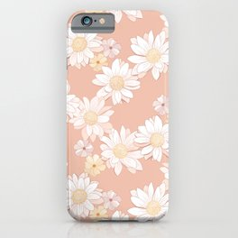 Daisies - White and Blush Pink Bloom iPhone Case
