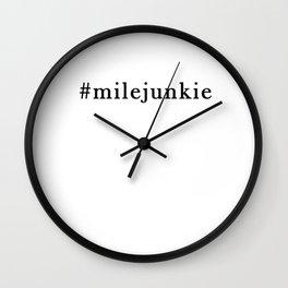 mile junkie Wall Clock