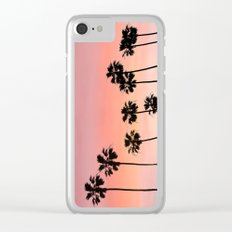 Blushing Palms Clear iPhone Case