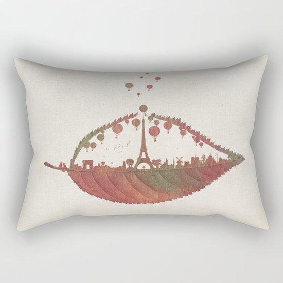 Magical Flight over Paris Rectangular Pillow
