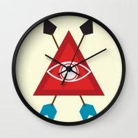illuminati Wall Clocks featuring Illuminati by Lucas de Souza