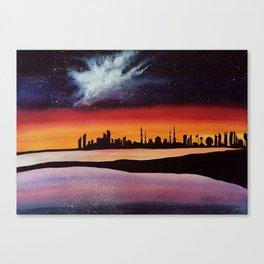 Abu Dhabi, watercolor Canvas Print