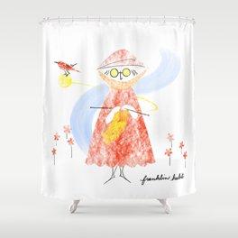 Summer Knitter Shower Curtain