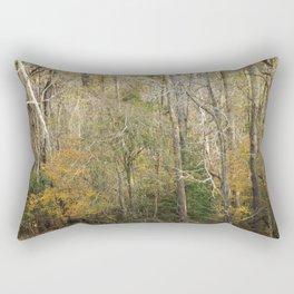 Late Autumn Forest Rectangular Pillow