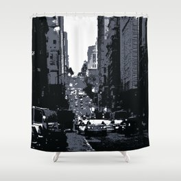San Francisco Street PIXELATED Shower Curtain