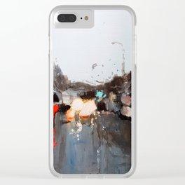 Suburban Rain Clear iPhone Case