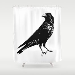 Lone Raven Shower Curtain