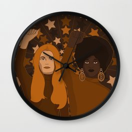 Female Fighters Wall Clock