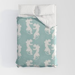 White Panther Duvet Cover
