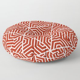 Rufous - red - Geometric Seamless Triangles Pattern Floor Pillow