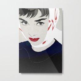 Audrey 005 Metal Print