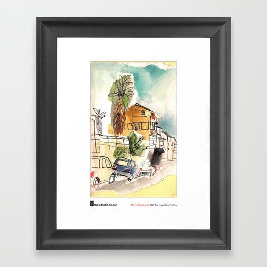 "Marina Grechanik, ""TelAviv Corner"" Framed Art Print"