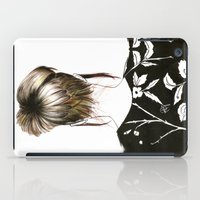 emma stone iPad Cases featuring Emma  by Yaz Raja Designs